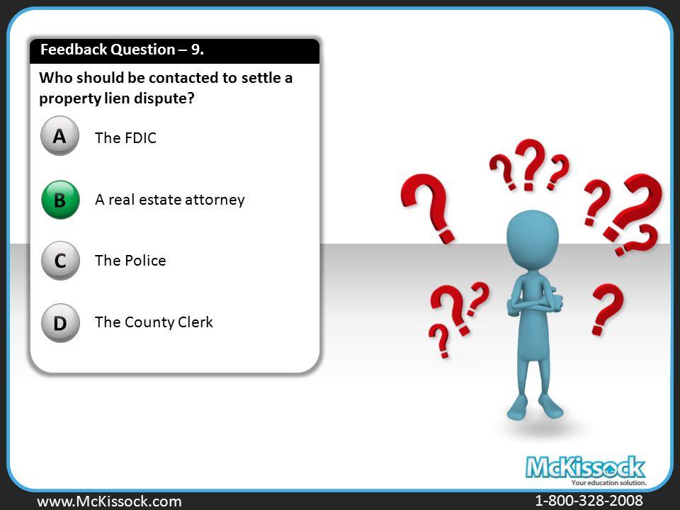 A B C D Feedback Question – 9.