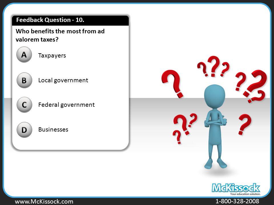 A B C D Feedback Question - 10.