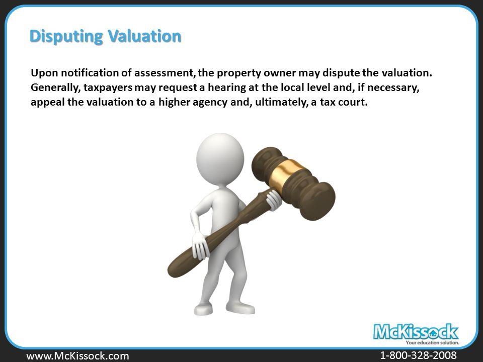 Disputing Valuation
