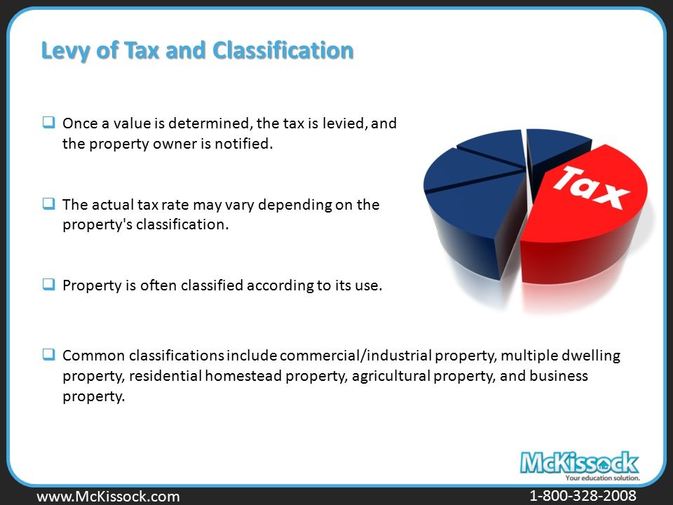Levy of Tax and Classification