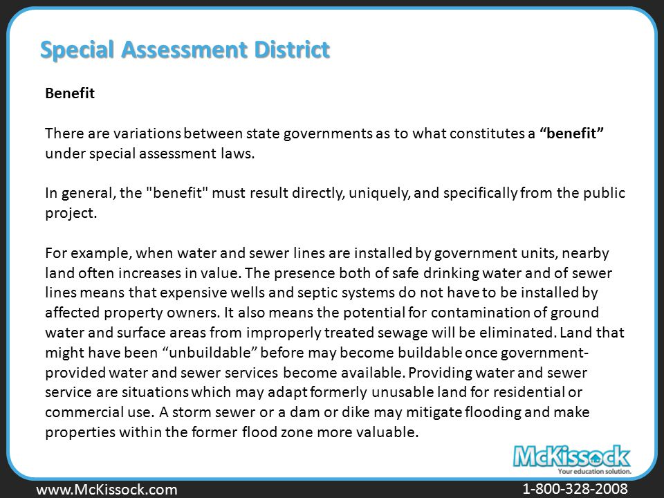 Special Assessment District