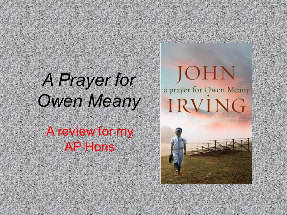 A Prayer for Owen Meany A review for my AP Hons