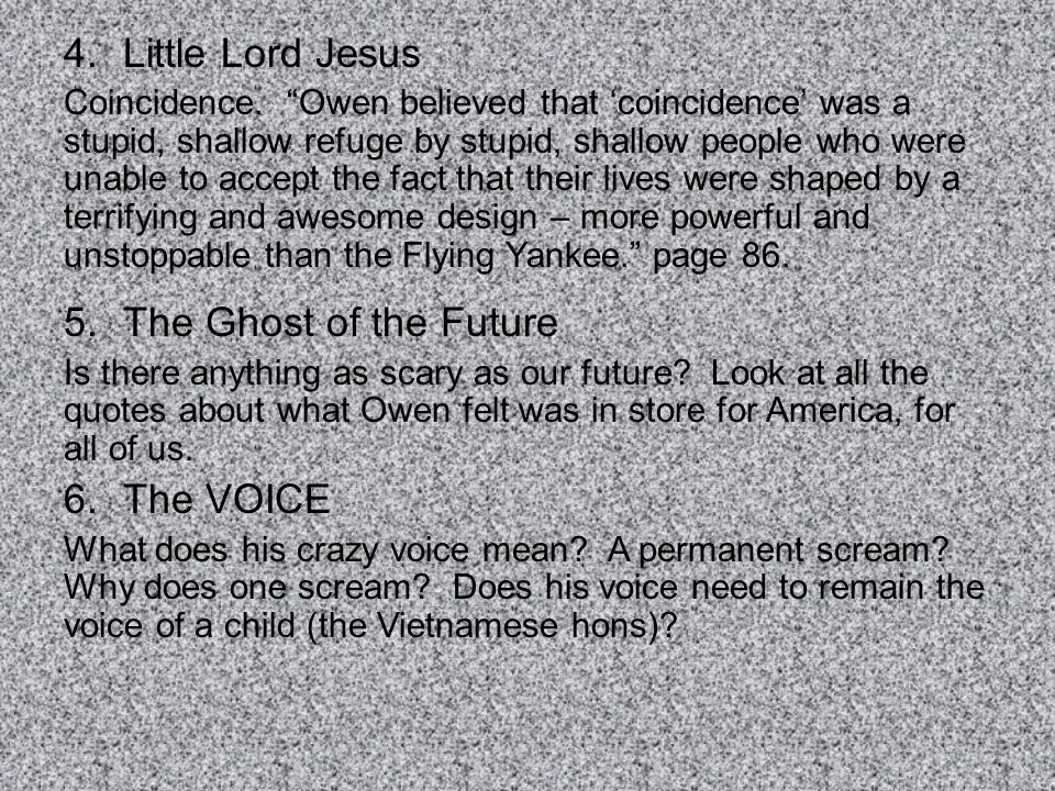Little Lord Jesus The Ghost of the Future The VOICE