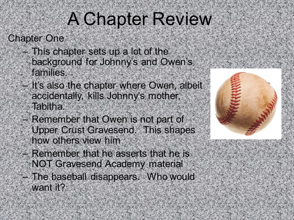 A Chapter Review Chapter One