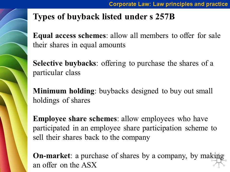 Types of buyback listed under s 257B