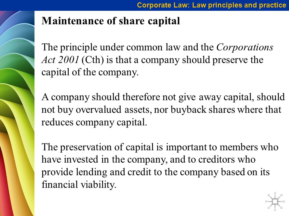 Maintenance of share capital