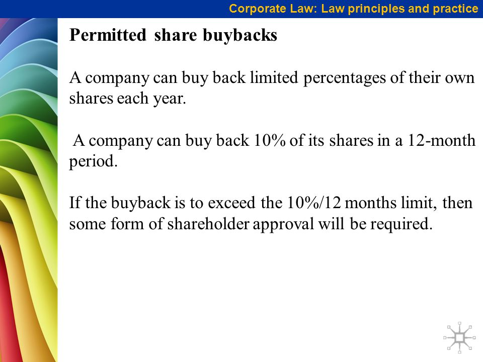 Permitted share buybacks