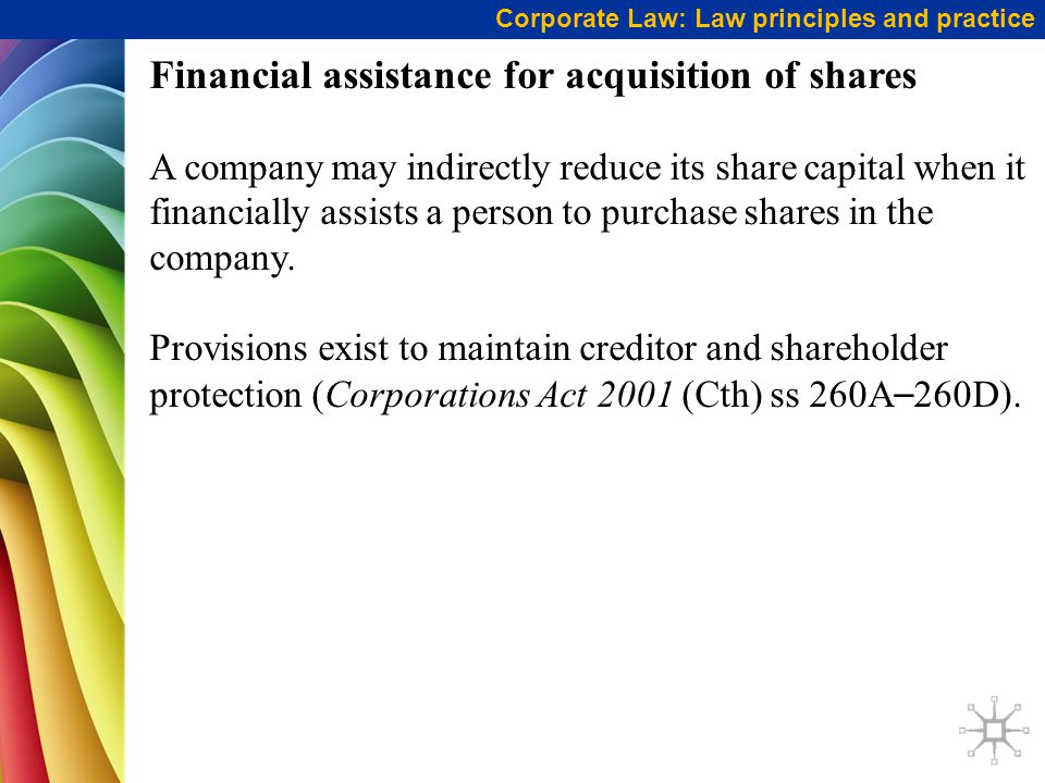 Financial assistance for acquisition of shares
