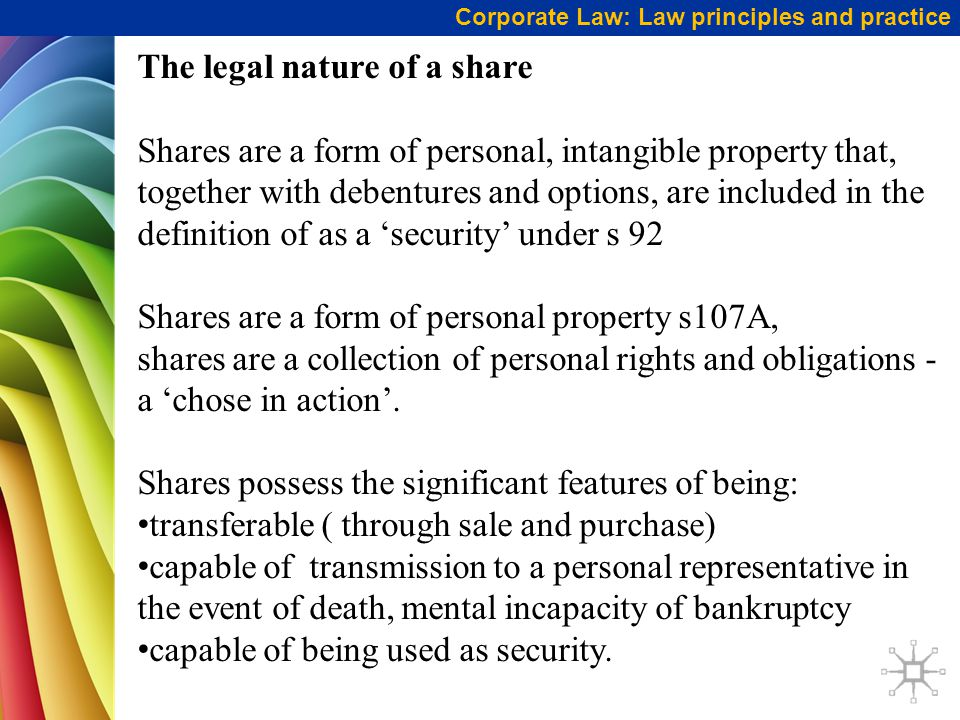 The legal nature of a share