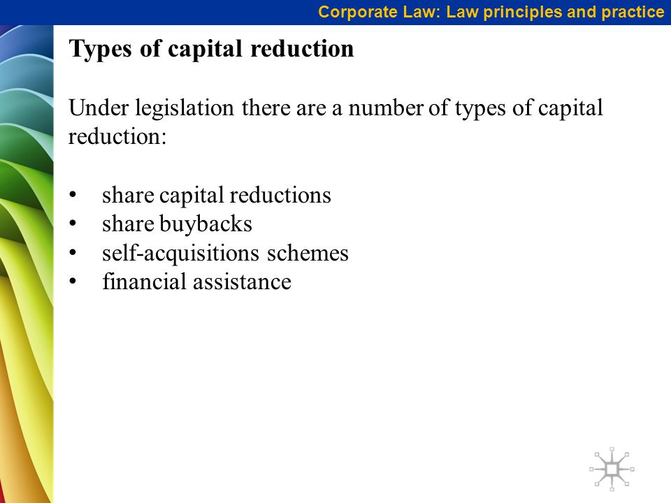 Types of capital reduction