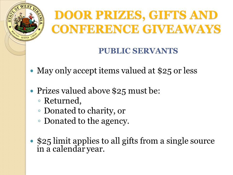 DOOR PRIZES, GIFTS AND CONFERENCE GIVEAWAYS