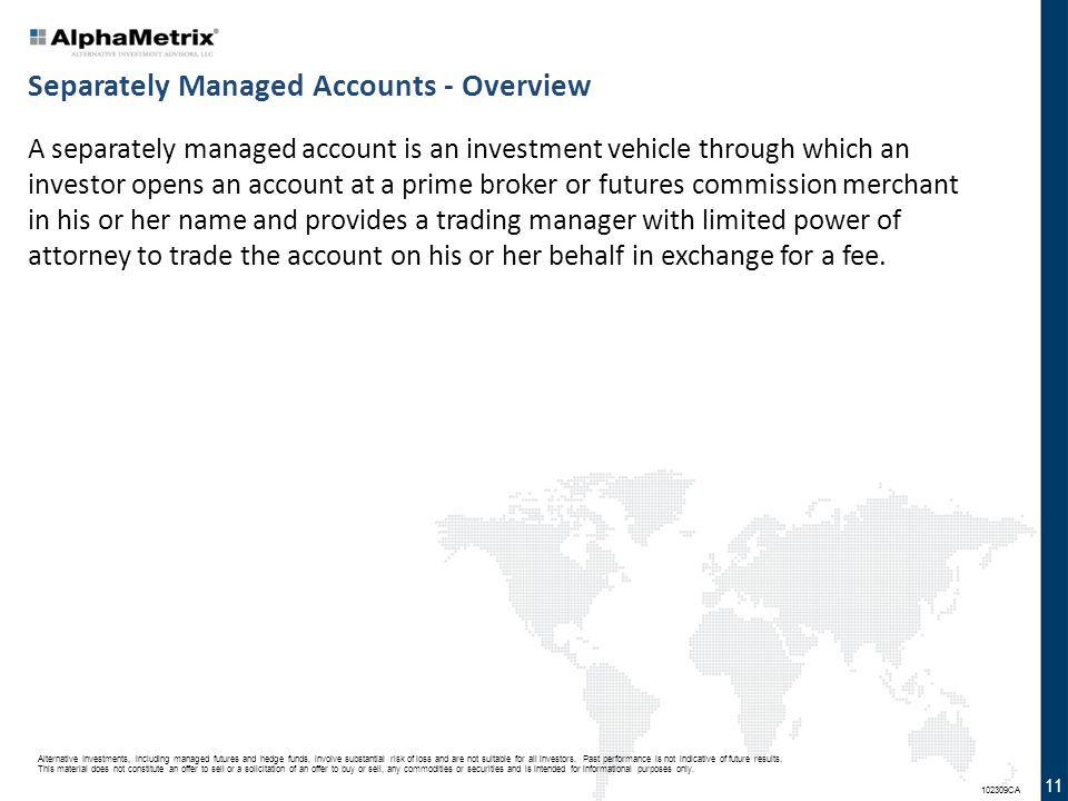 Separately Managed Accounts - Overview
