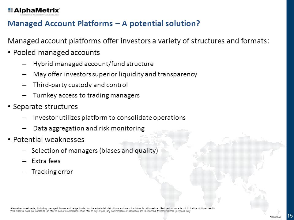 Managed Account Platforms – A potential solution