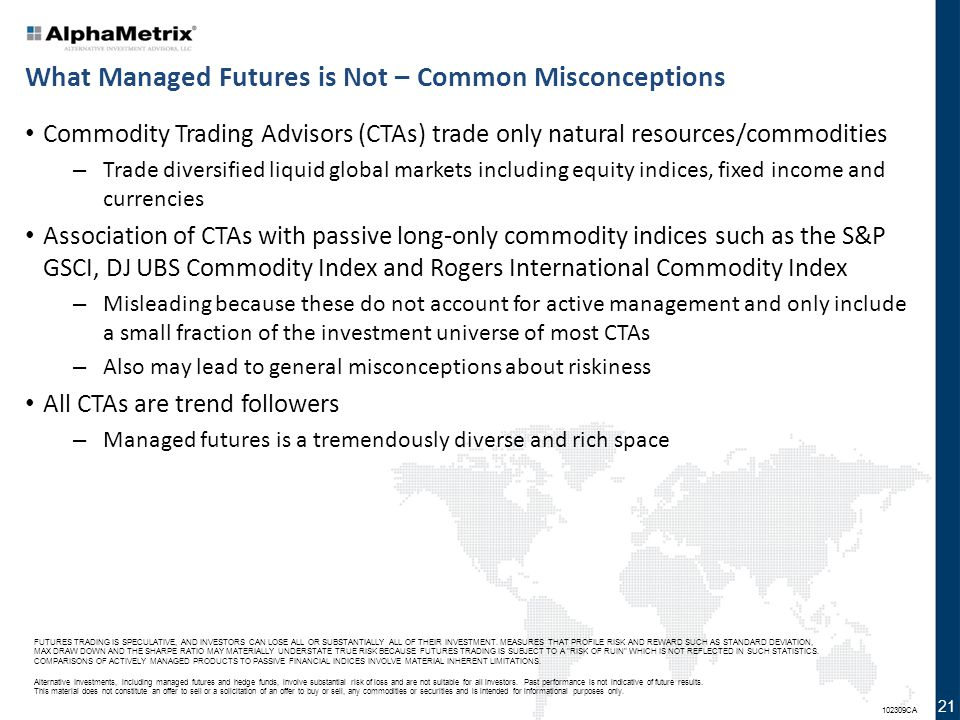What Managed Futures is Not – Common Misconceptions