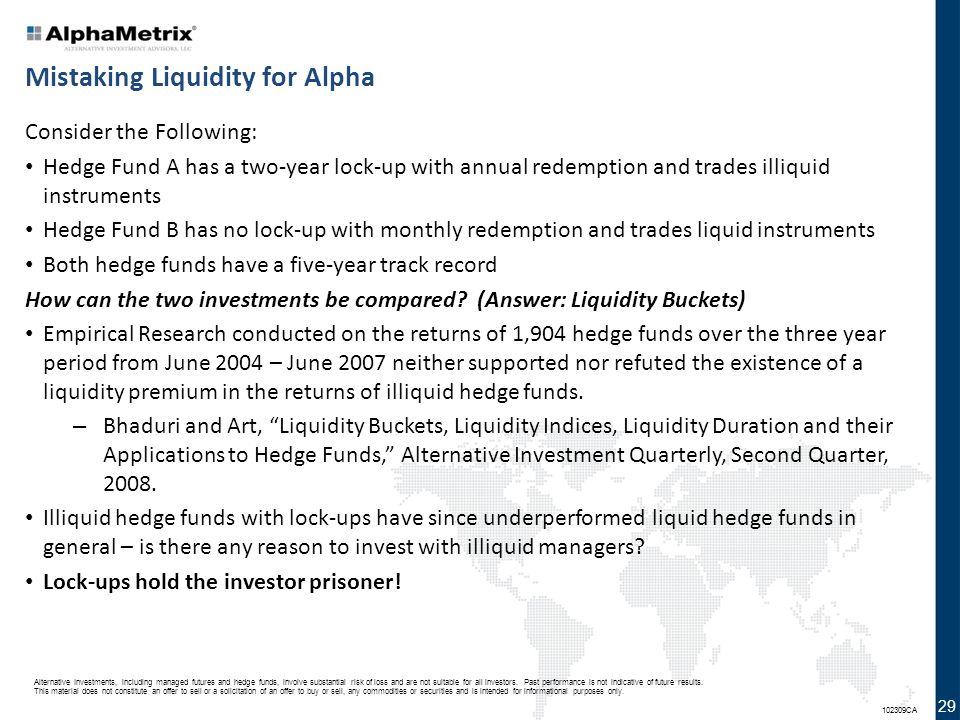 Mistaking Liquidity for Alpha