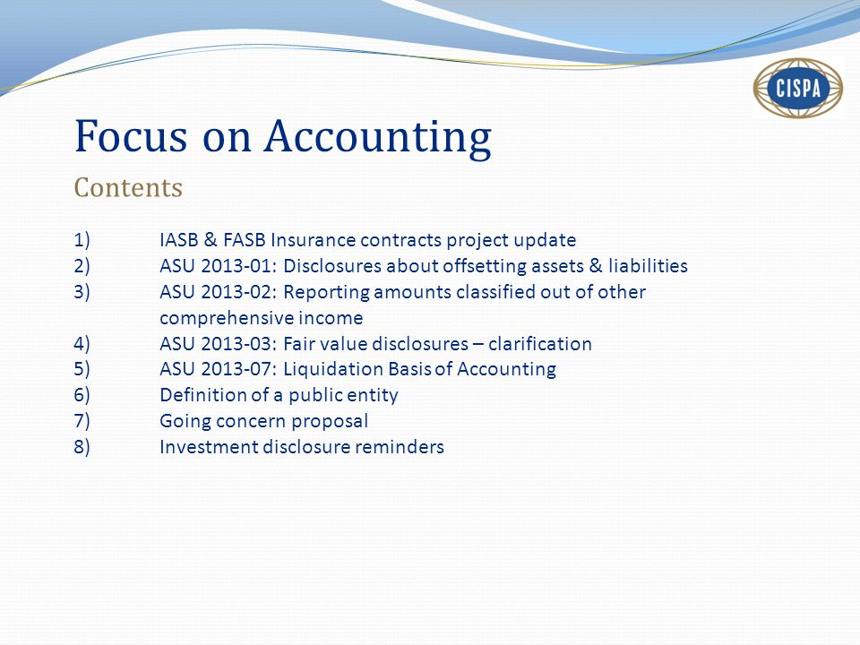 Focus on Accounting Contents