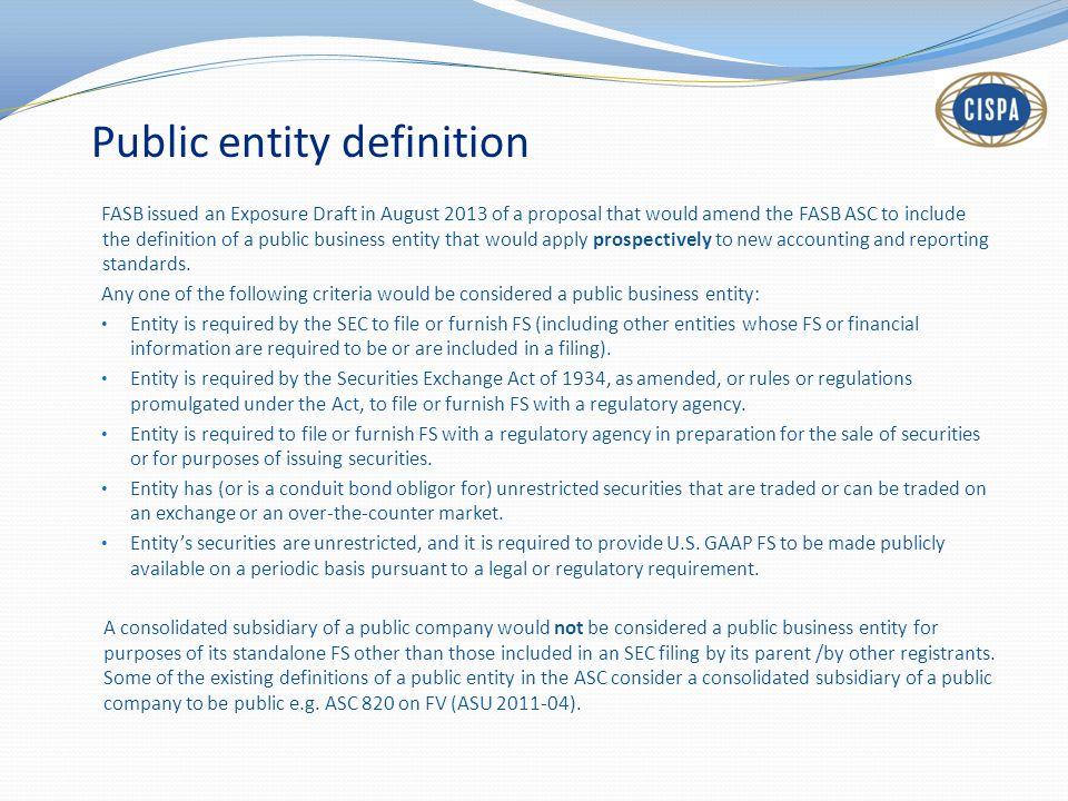 Public entity definition