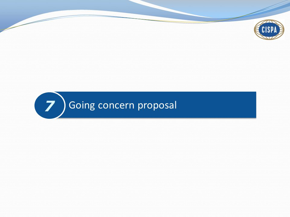 Going concern proposal