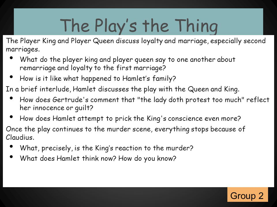 The Play's the Thing Group 2