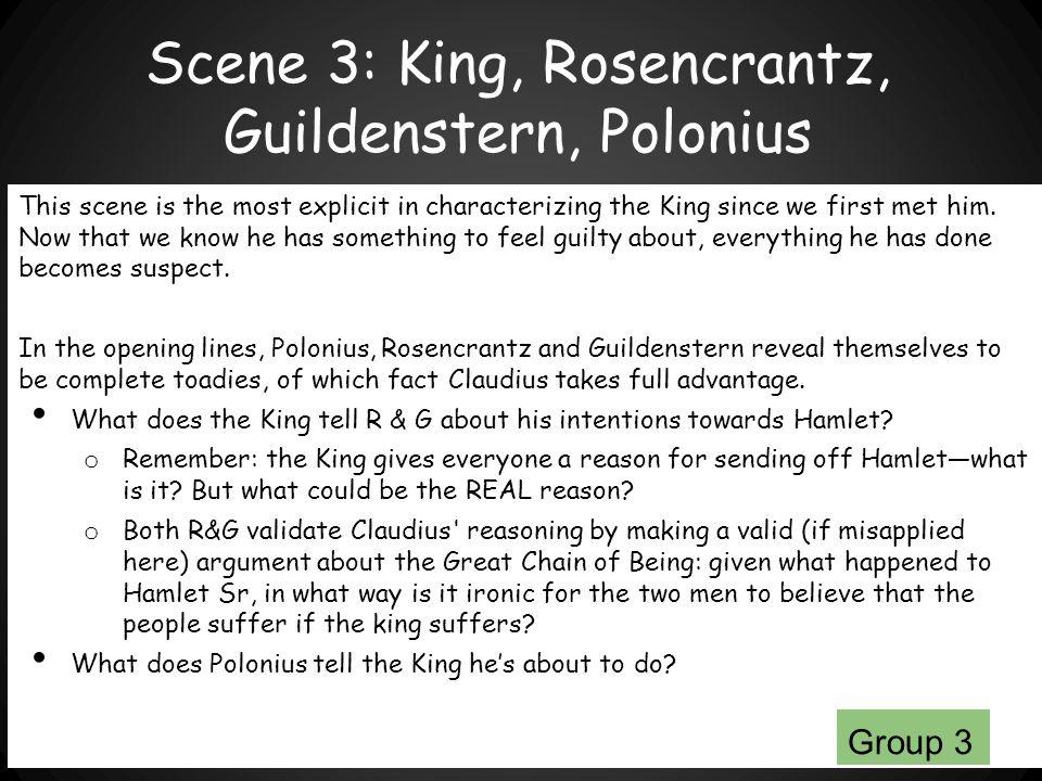 Scene 3: King, Rosencrantz, Guildenstern, Polonius