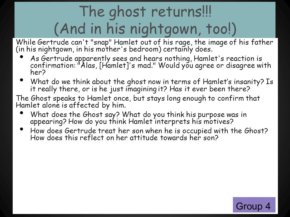 The ghost returns!!! (And in his nightgown, too!)