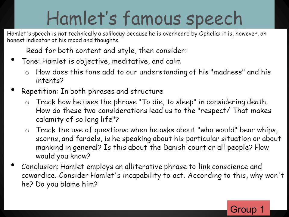 Hamlet's famous speech