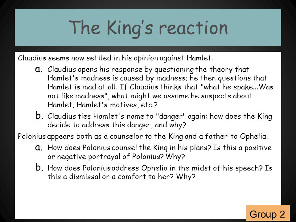 The King's reaction Group 2