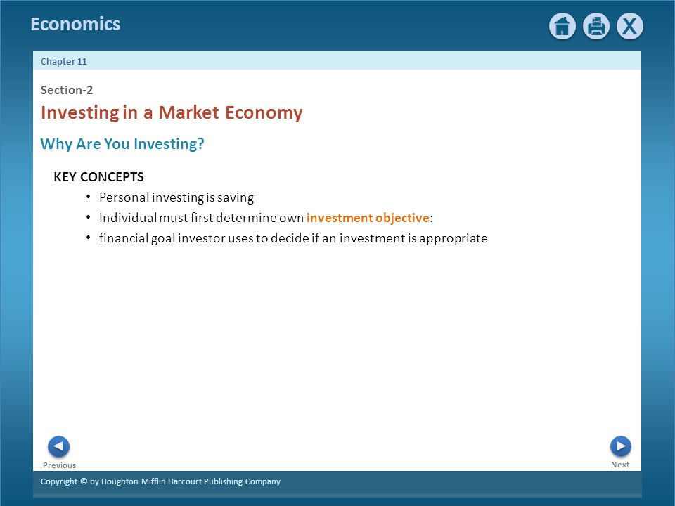 Investing in a Market Economy