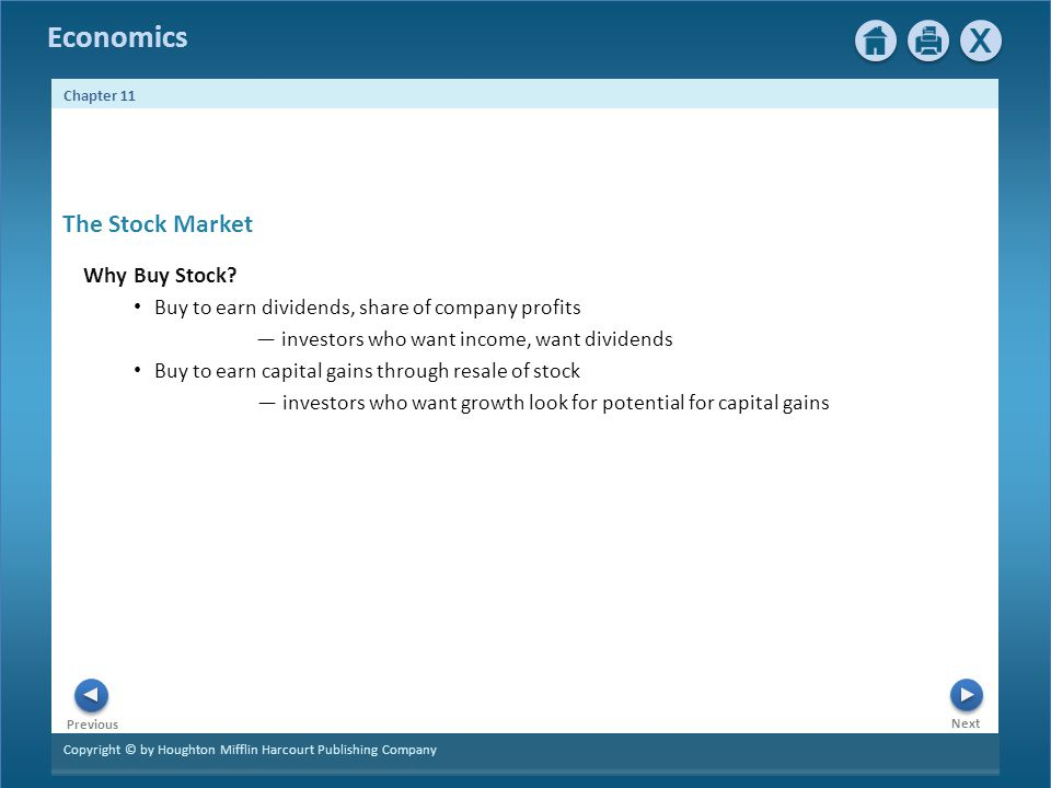 The Stock Market Why Buy Stock