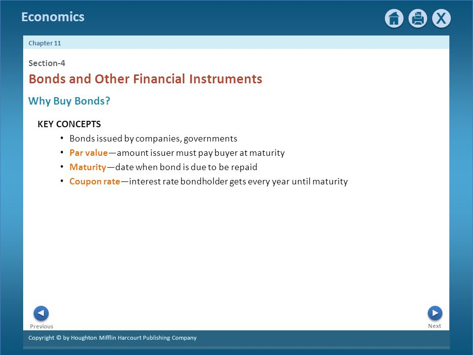 Bonds and Other Financial Instruments