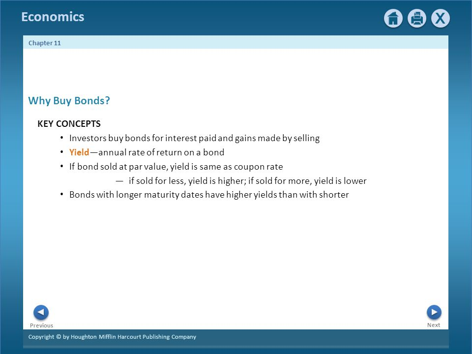 Why Buy Bonds KEY CONCEPTS