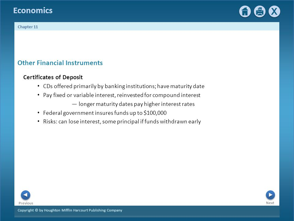 Other Financial Instruments