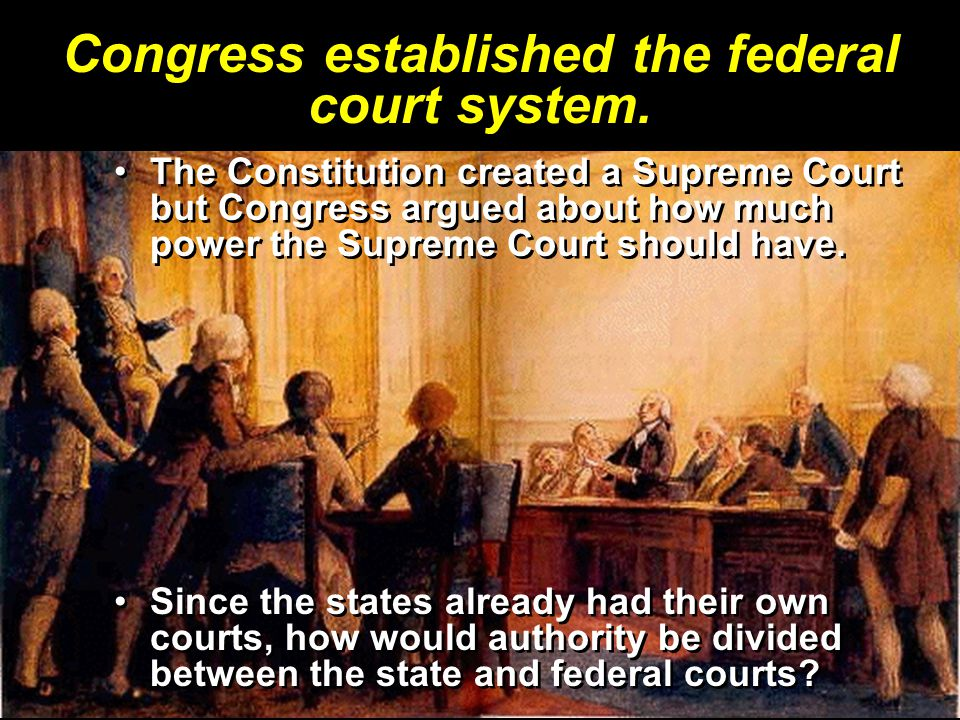Congress established the federal court system.
