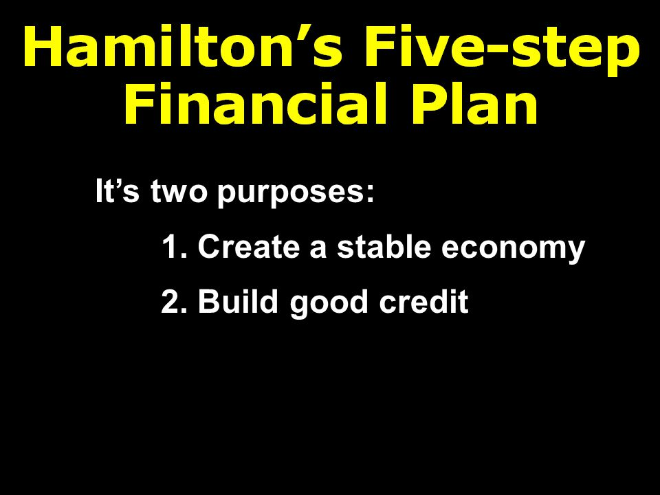 It's two purposes: 1. Create a stable economy 2. Build good credit