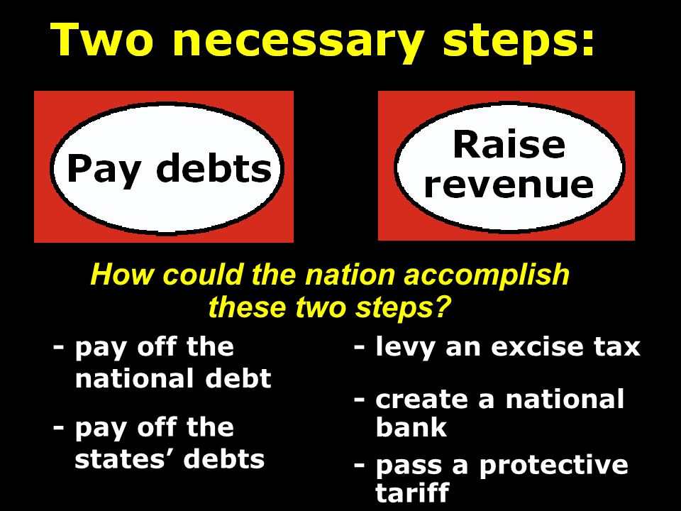 How could the nation accomplish these two steps