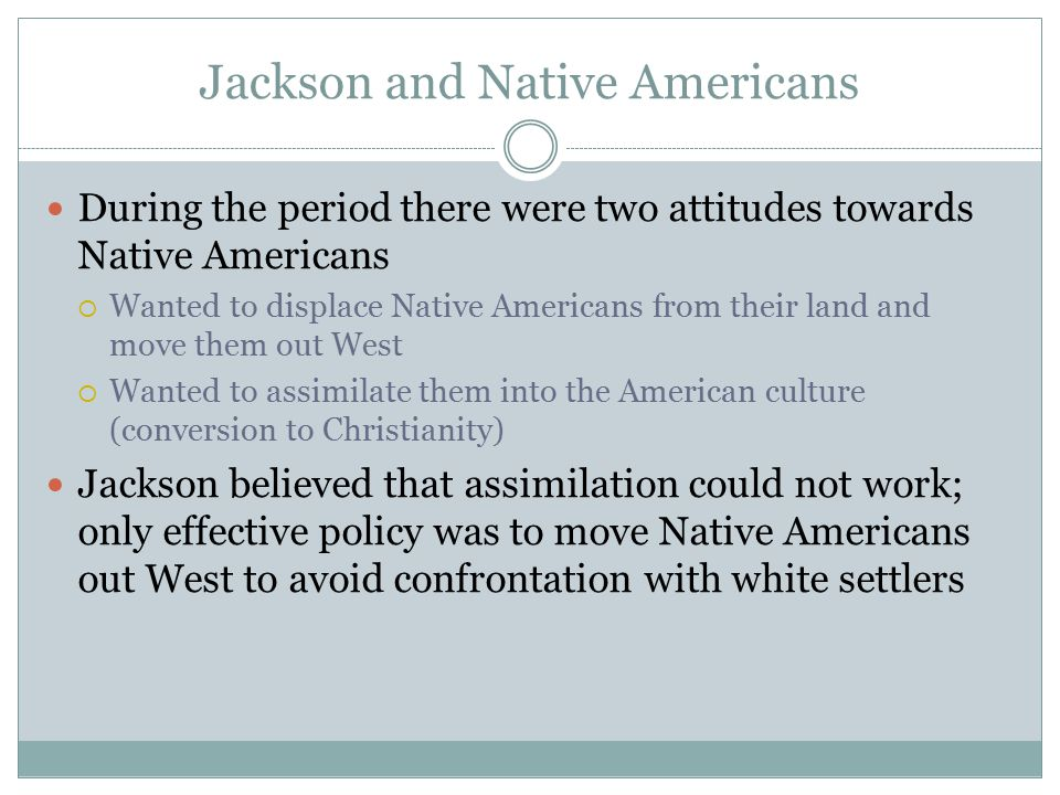 Jackson and Native Americans