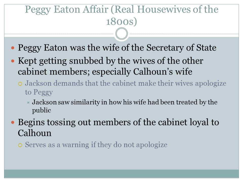 Peggy Eaton Affair (Real Housewives of the 1800s)