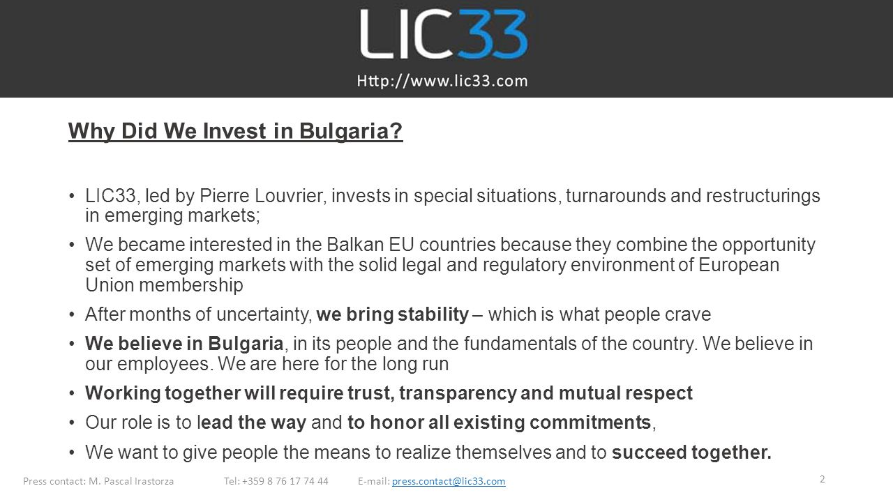 Why Did We Invest in Bulgaria