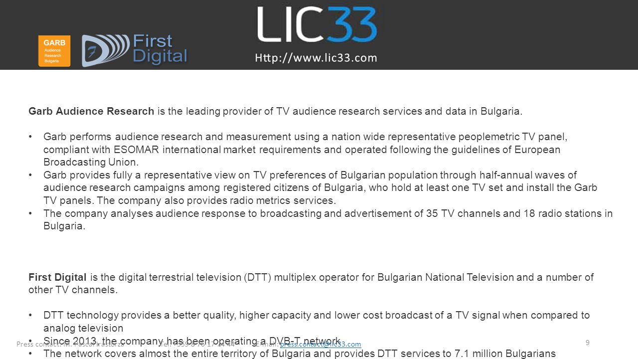 Since 2013, the company has been operating a DVB-T network