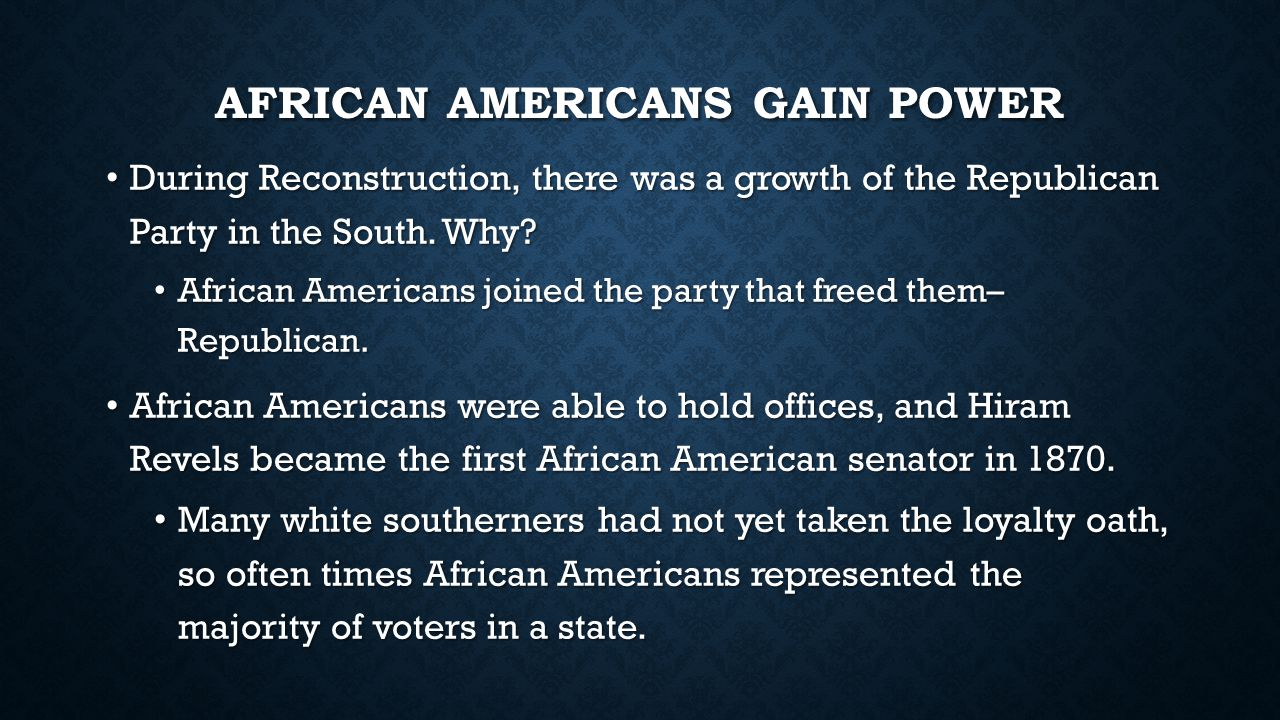 African Americans Gain power
