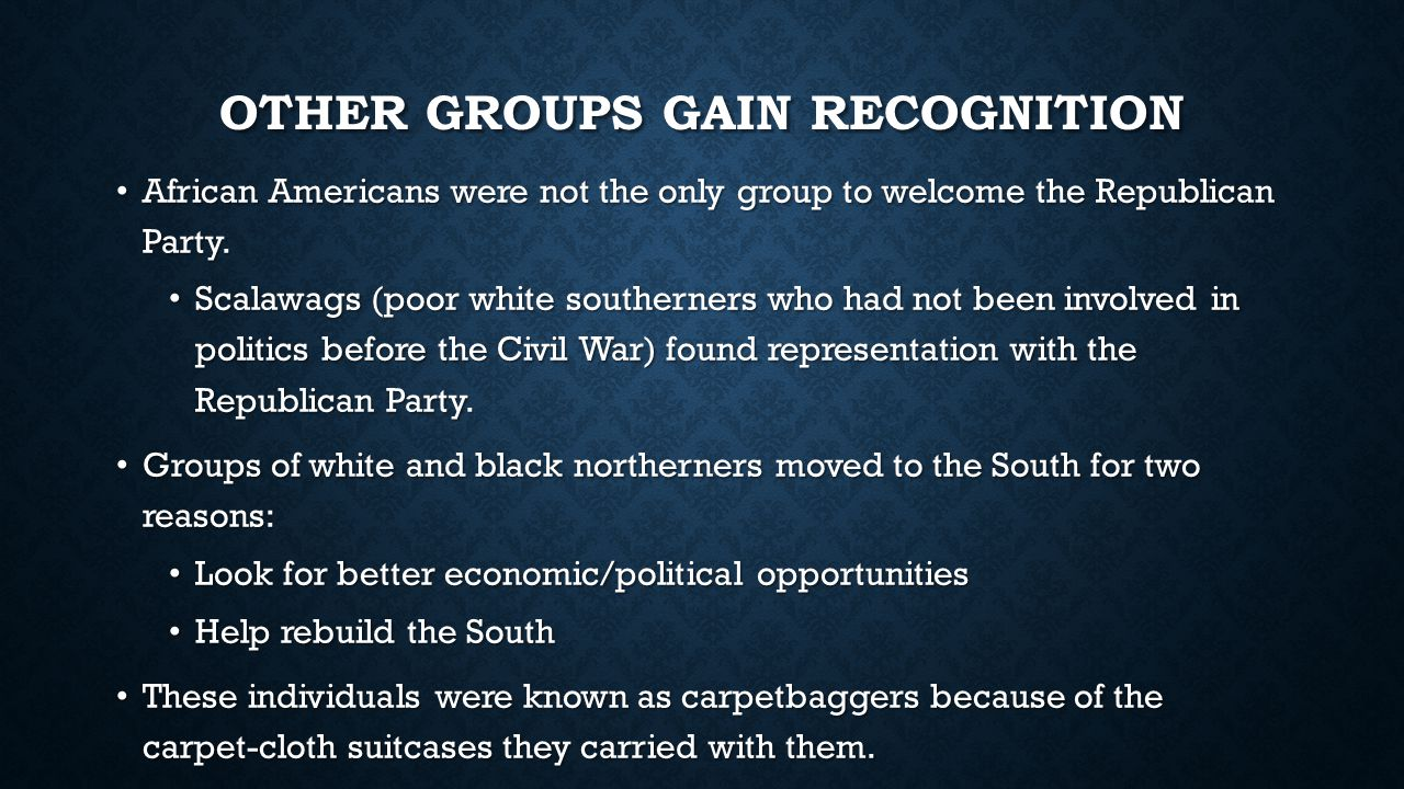 Other groups gain recognition