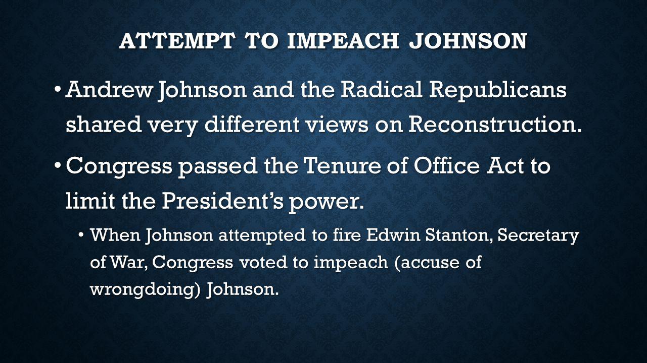 Attempt to Impeach Johnson