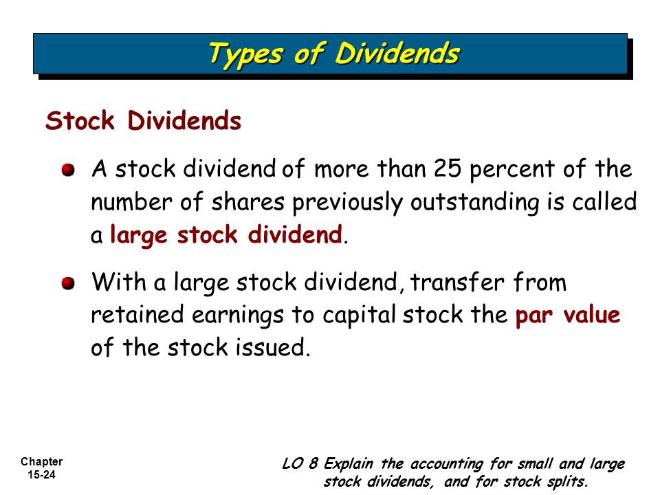 Types of Dividends Stock Dividends
