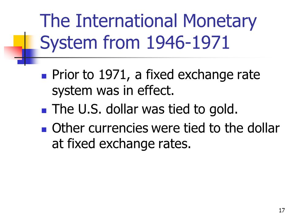 The International Monetary System from 1946-1971