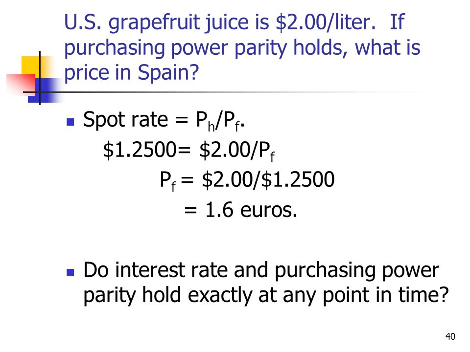 U. S. grapefruit juice is $2. 00/liter