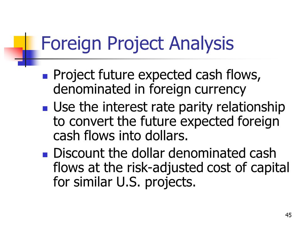 Foreign Project Analysis