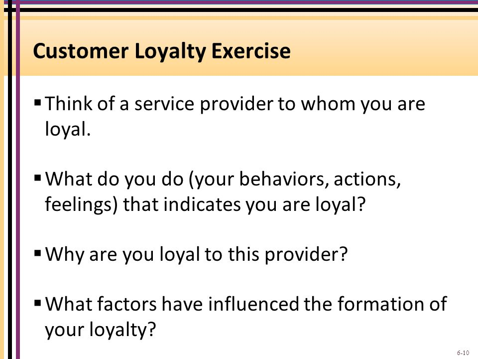 Customer Loyalty Exercise
