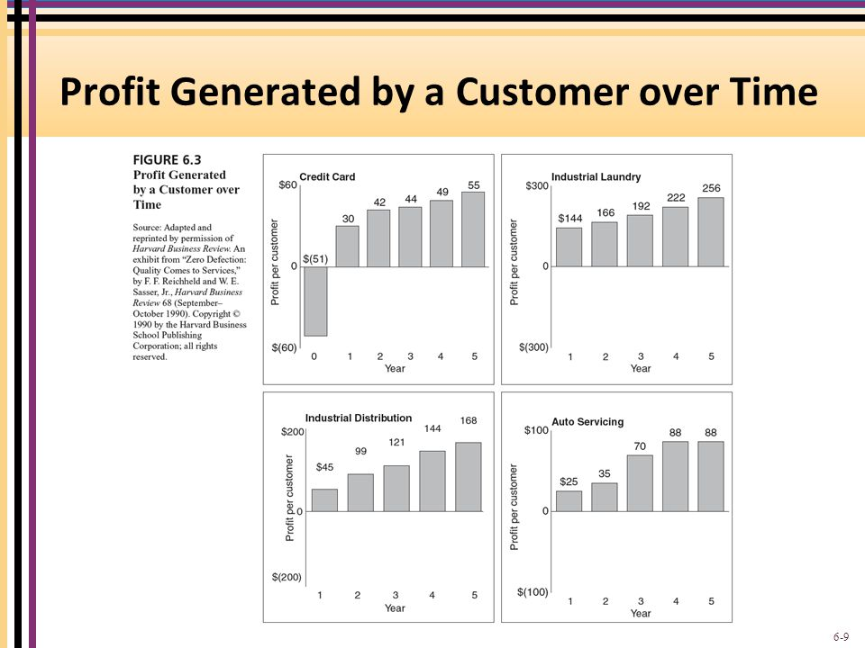 Profit Generated by a Customer over Time