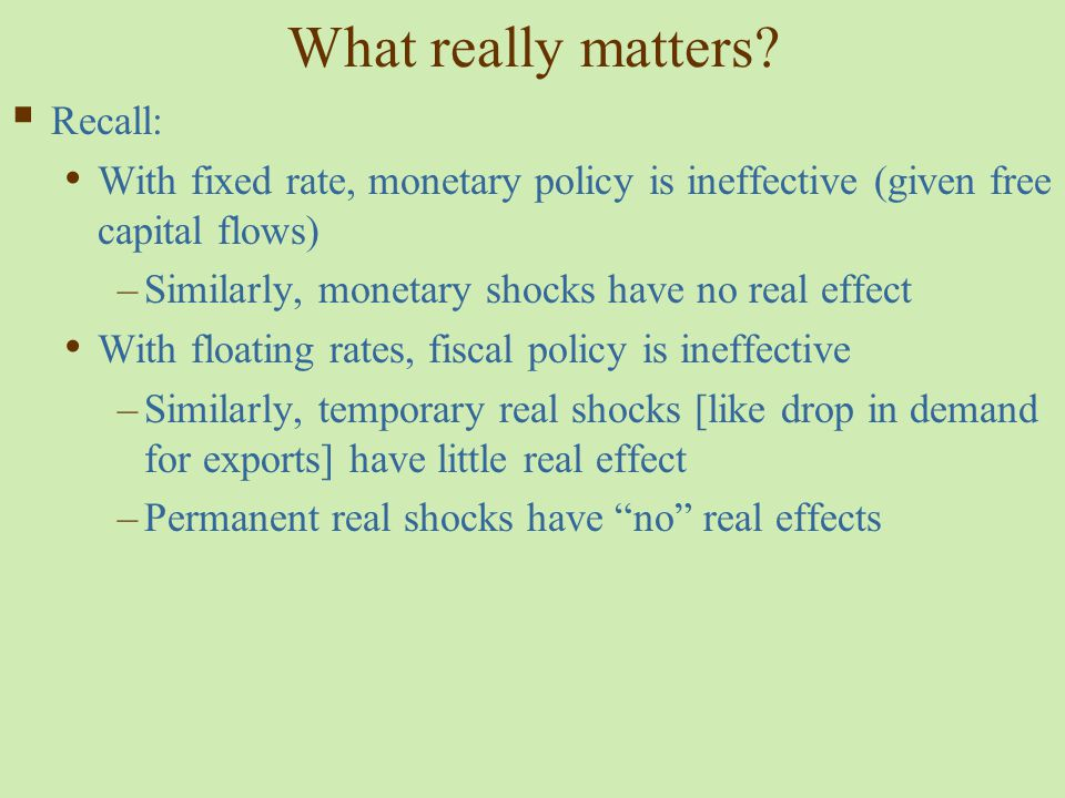What really matters Recall: