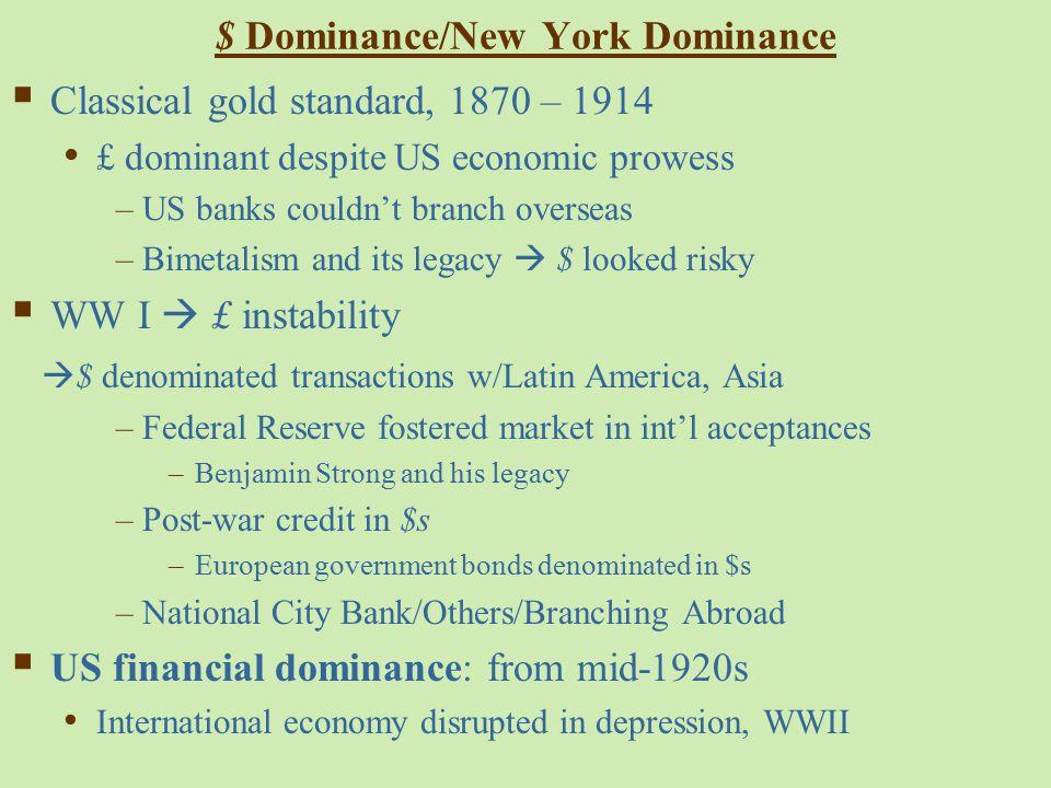 $ Dominance/New York Dominance